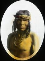 Thumbnail for Portrait of a Navajo wearing a shell necklace. 1910: E20
