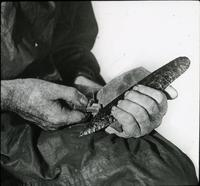 Thumbnail for Chipping method of making flint implements: E32
