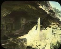 Thumbnail for Spruce Tree House, front of Balcony House after excavations: E44
