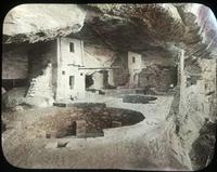 Thumbnail for Spruce Tree House, front of Balcony House after excavations: E45