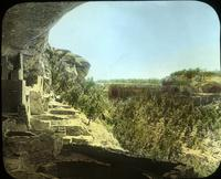Thumbnail for Cliff Palace, view of Sun Temple across canyon. 1915: E56