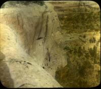 Thumbnail for Fewkes Canyon and Tower House, looking down the cliff: E62