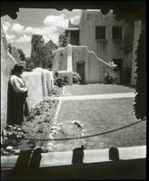 Thumbnail for La Fonda patio and St. Francis, Santa Fe: H25