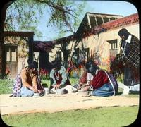 Thumbnail for Making pots at Palace of the Governors, Santa Fe (glass broken): H76