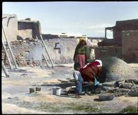 Thumbnail for Baking bread in oven at Acoma: H31