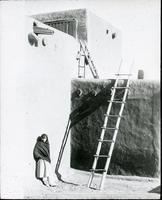 Thumbnail for Taos, ladders to upper levels of pueblo: H40