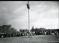 Thumbnail for Taos, San Geronimo Day, greased pole climb: H48