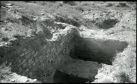 Thumbnail for Chetro Ketl. Exploratory pit #1, outer wall. 1937: F58