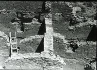Thumbnail for Chetro Ketl. Masonry on east central interior walls: F89