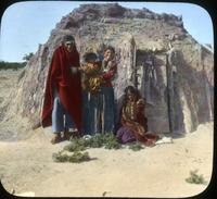 Thumbnail for Navajo Reservation. Family and Hogan: G71
