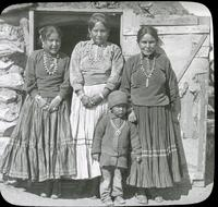Thumbnail for Navajo Reservation. Family and Hogan: G72