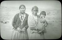 Thumbnail for Navajo Reservation. Two women and a child: G91