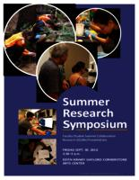 Thumbnail for 2016 Summer Research Symposium