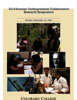 Thumbnail for 2014 Summer Research Symposium