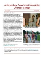 Thumbnail for Anthropology Department newsletter [2005-2006 Issue No. 2 Spring]