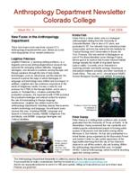 Thumbnail for Anthropology Department newsletter [2006-2007 Issue No. 3 Fall]