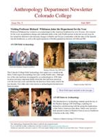 Thumbnail for Anthropology Department newsletter [2007-2008 Issue No. 5 Fall]