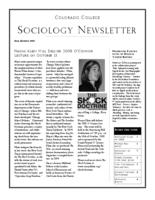 Thumbnail for Colorado College sociology newsletter [2008-2009 Fall]