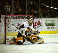 Thumbnail for Colorado College Men's Hockey. Game Photos. 2002-2003. McElhinneysaveMM203-416