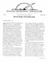 Thumbnail for English Department newsletter [2004-2005 Issue 9 Spring]