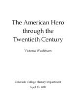 Thumbnail for The American hero through the twentieth century