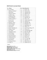 Thumbnail for 2002 Women's Lacrosse Results and Roster