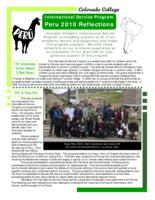 Thumbnail for Colorado College International Service Program : Peru 2010 reflections