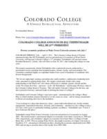 Thumbnail for Colorado College announces Jill Tiefenthaler will be 13th president
