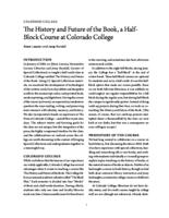 Thumbnail for The History and Future of the Book, a Half-Block Course at Colorado College