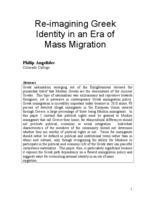 Thumbnail for Re-imagining Greek identity in an era of mass migration