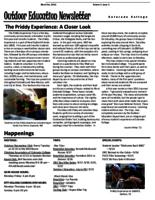 Thumbnail for Outdoor education newsletter [2011-2012 v. 1 no. 1 Block 1]