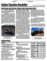Thumbnail for Outdoor education newsletter [2011-2012 v. 1 no. 5 Block 5]