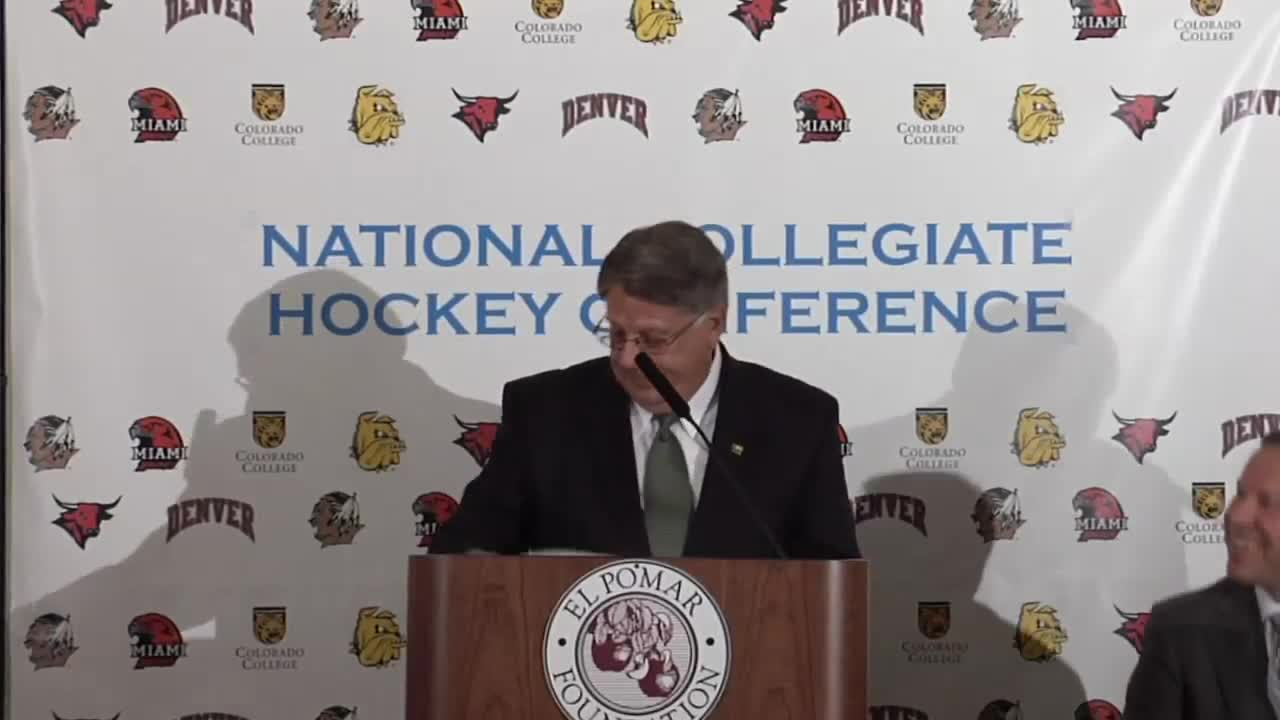 Thumbnail for National Collegiate Hockey Conference press conference