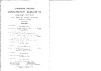 Thumbnail for Commencement Program 1896