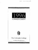 Thumbnail for Commencement Program 1996
