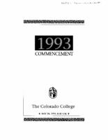Thumbnail for Commencement Program 1993