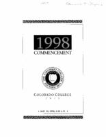Thumbnail for Commencement Program 1998