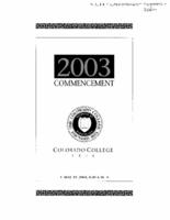 Thumbnail for Commencement Program 2003