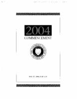 Thumbnail for Commencement Program 2004