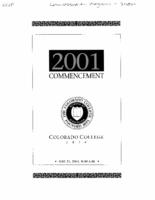 Thumbnail for Commencement Program 2001