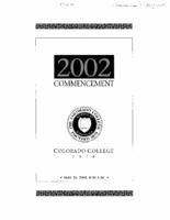 Thumbnail for Commencement Program 2002