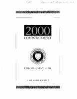 Thumbnail for Commencement Program 2000