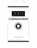 Thumbnail for Commencement Program 2005