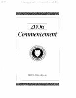 Thumbnail for Commencement Program 2006