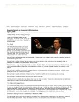 Thumbnail for A new West, a new energy policy: keynote speech by Governor Bill Richardson
