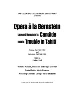 Thumbnail for [2012-04-13,14] Opera á la Bernstein : Candide meets Trouble in Tahiti. Program.