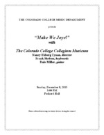 Thumbnail for Collegium Musicum [2013-12-08]