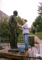 "Thumbnail for 2005 Charles Leaming (""Chas"") Tutt statue, decorated."