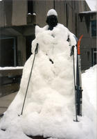 "Thumbnail for 2005 Snow Charles Leaming (""Chas"") Tutt statue, decorated."