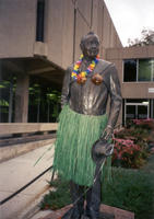 "Thumbnail for 2005 Grass skirt Charles Leaming (""Chas"") Tutt statue, decorated."